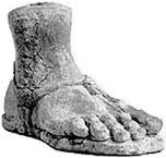 foot votive terra cotta