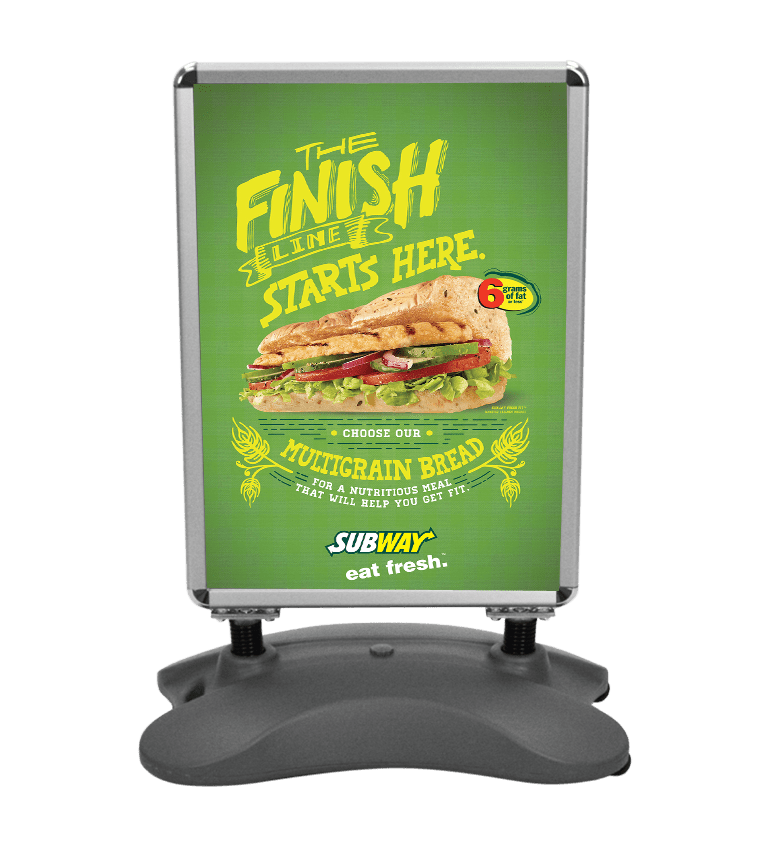 outdoor poster stands advertising