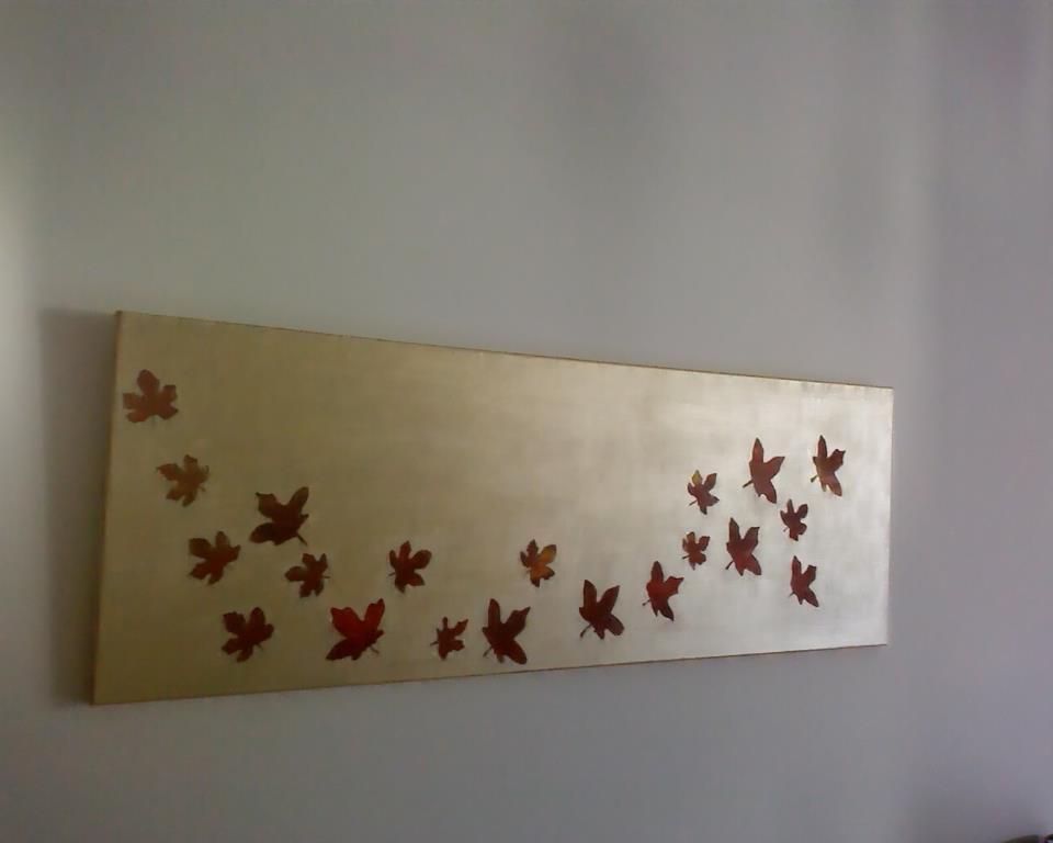 Pintando con hojas  EcoBrico