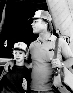 Jess with his father in Biloxi.