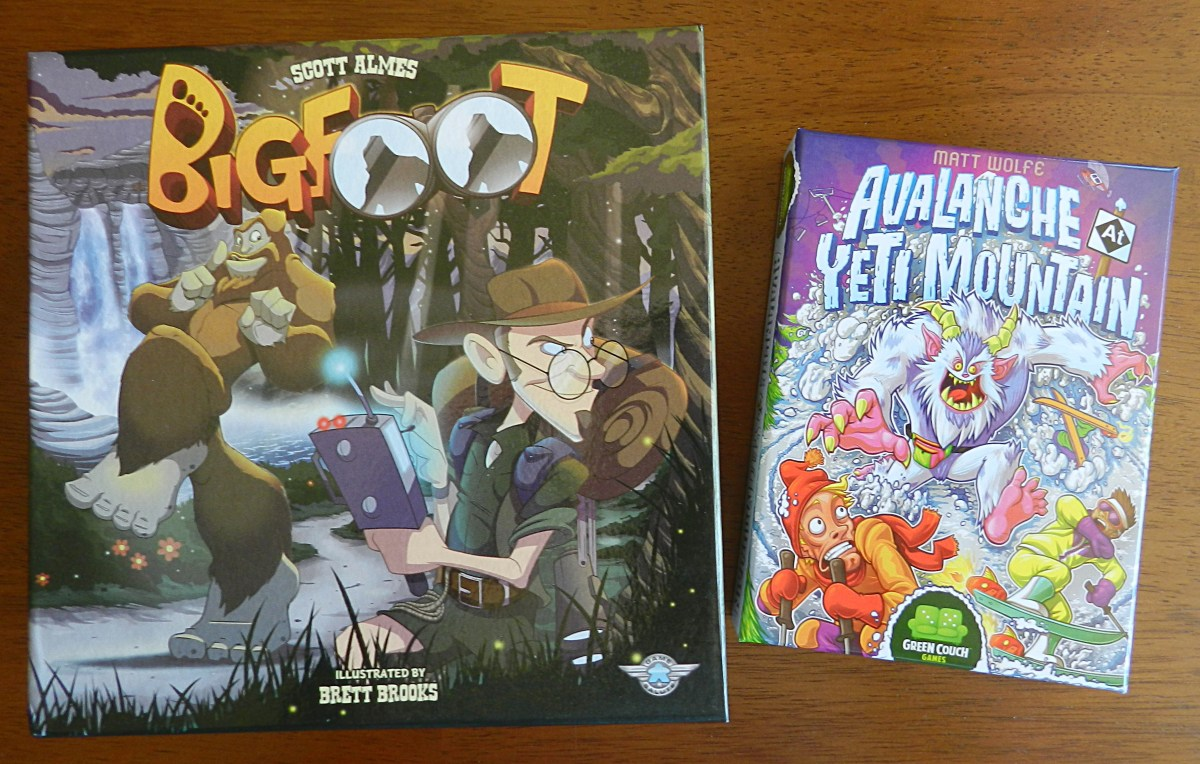 Bigfoot vs. Avalance at Yeti Mountain: Searching for the best cryptozoology board game