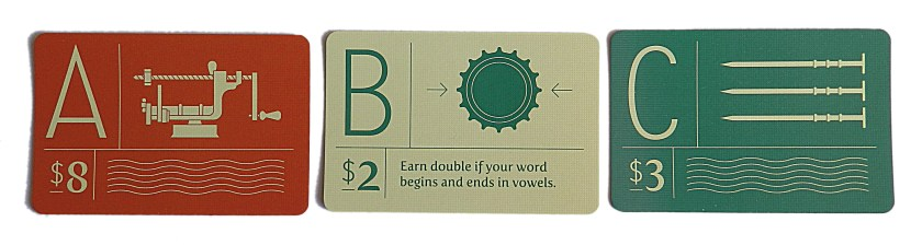 Vowels are red, consonants are green, rare letters give you powers to earn points umpteen.