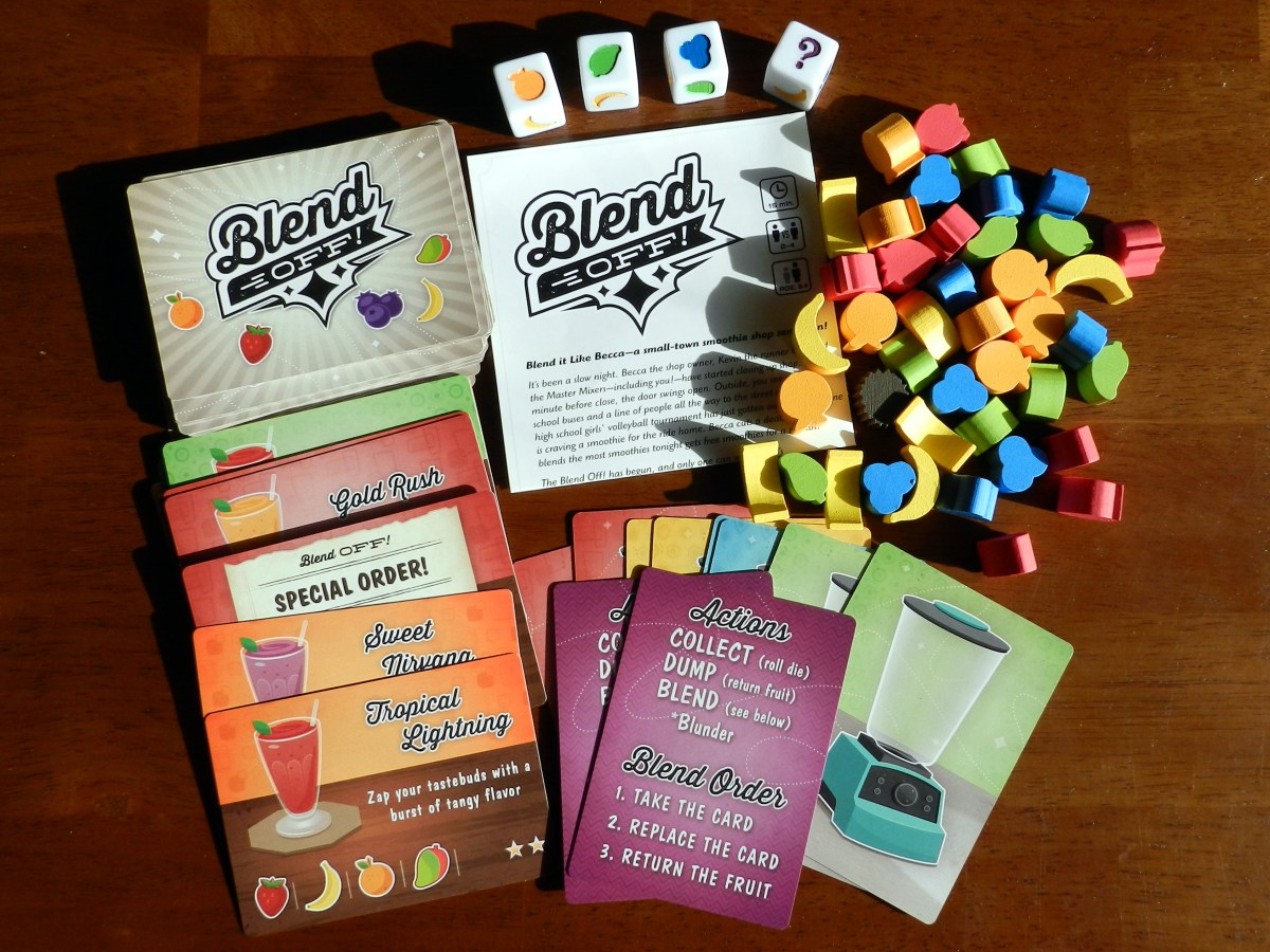 Show off your smoothie moves in Blend Off, a fruit-filled dice game