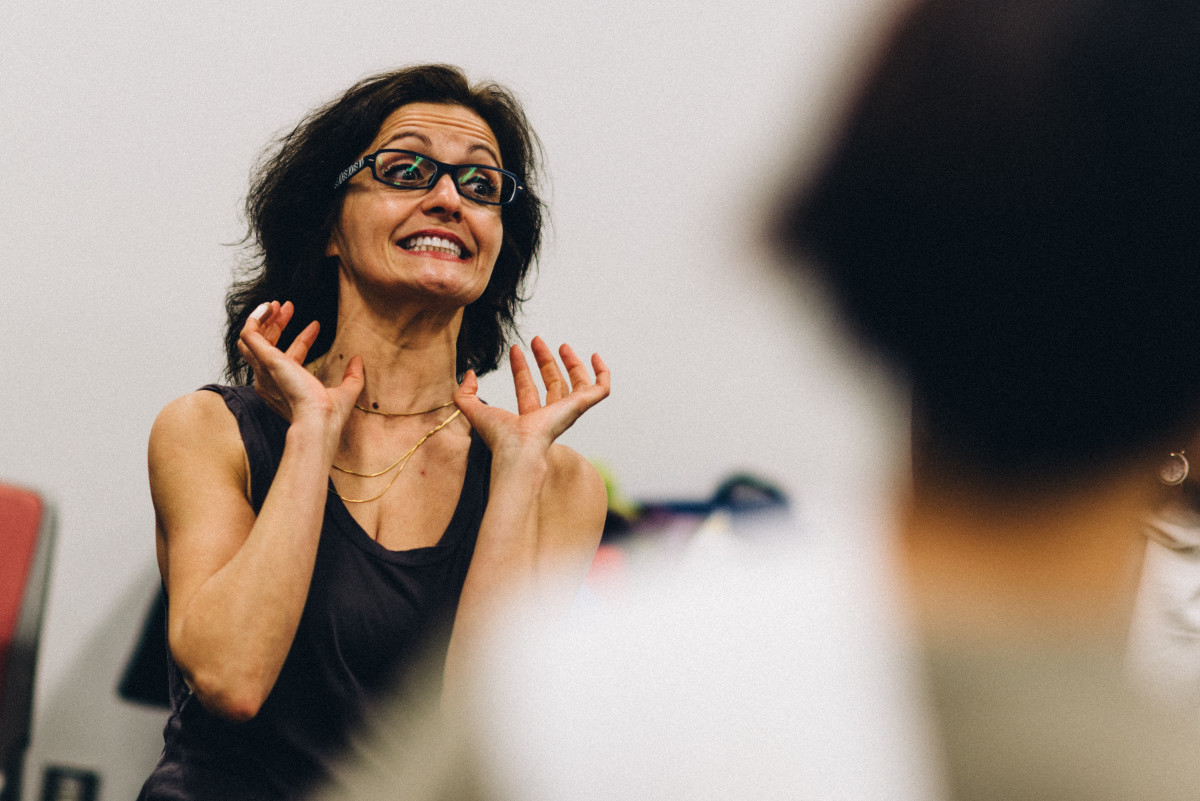 Sarajean Rossitto, producer of SEVEN, by Black Stripe Theater
