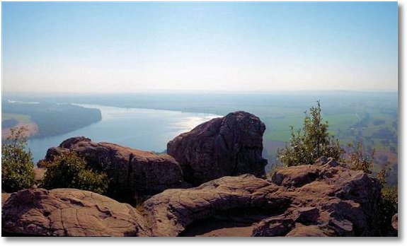 Overlooking the Arkansas River from Stout's Point, Petit Jean State Park, Arkansas, October 2006