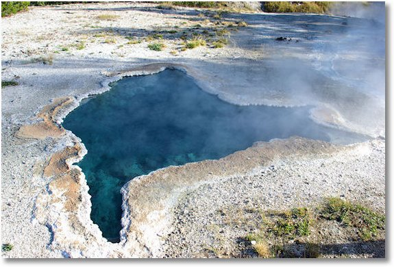 thermal pool at old faithful area yellowstone