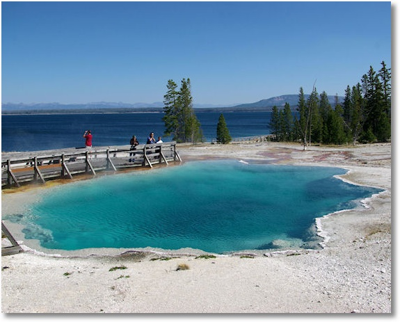black pool, west thumb geyser basin, yellowstone national park