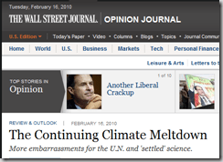The Continuing Climate Meltdown