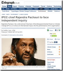 IPCC chief Rajendra Pachauri to face independent inquiry