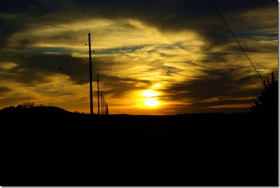 sunset near Douglas, Wyoming, July 9, 20101