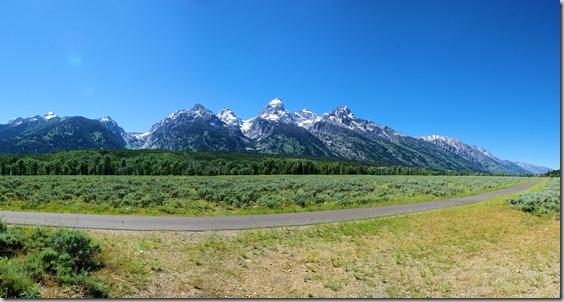 Teton Mountains - composite image from 3 photos.