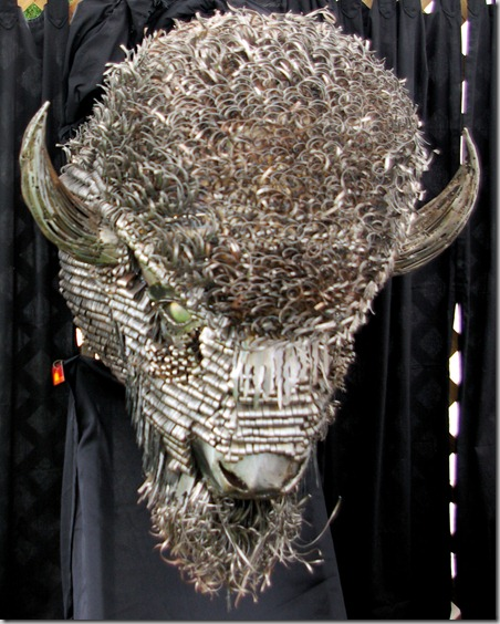 metal buffalo head