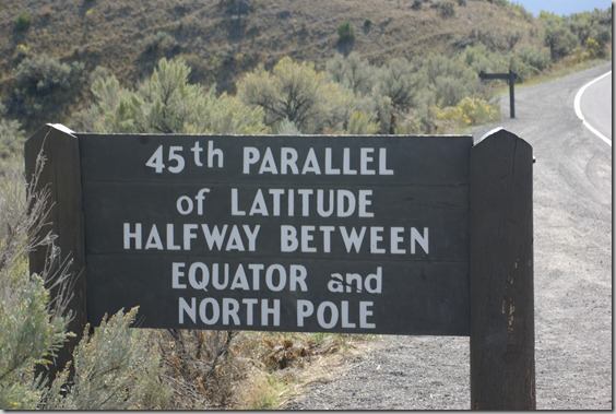 45th parallel, Yellowstone National Park