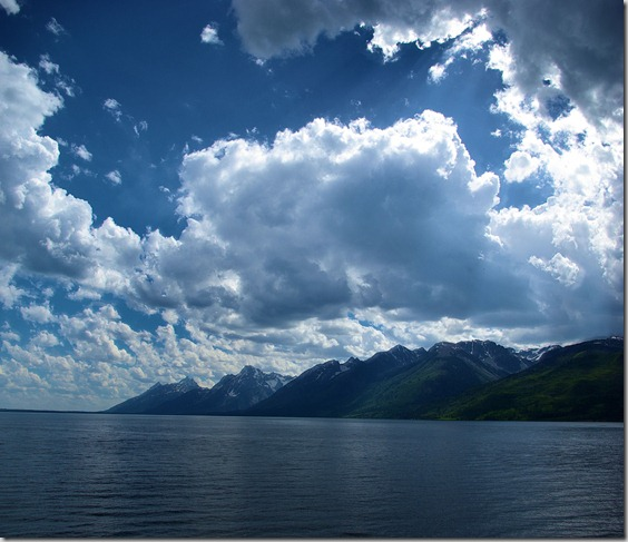 Clouds over the mountains, Grand Teton National Park, July 17, 2010