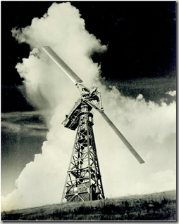 the 1.25 megawatt Grandpa's Knob wind turbine that operated near Rutland, Vermont in 1941.