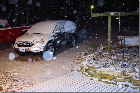 January 9, 2011, snow, Arkansas