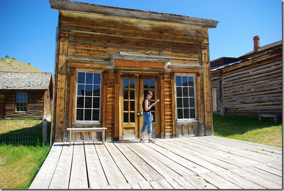 Assay Office in Bannack, Montana - one of the early mining camps of Montana, and the first capitol of the state .