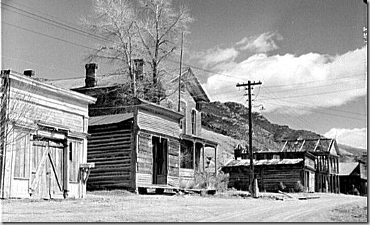 1942 photo by John Vachon in Bannack, Montana - one of the early mining camps of Montana, and the first capitol of the state .