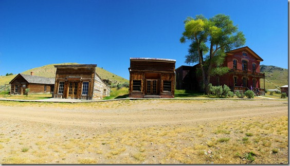 Bannack, Montana - one of the early mining camps of Montana, and the first capitol of the state .