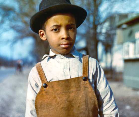 Negro boy near Cincinnati, Ohio (early 1940s); Photographer: John Vachon; Library of Congress images