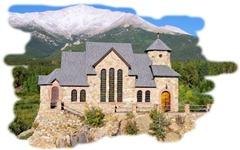 St. Catherine of Siena Chapel at St. Milo Retreat, Allenspark, Colorado; Chapel on the Rock