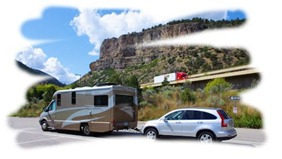 Navion IQ, Honda CRV in Glenwood Canyon Colorado.