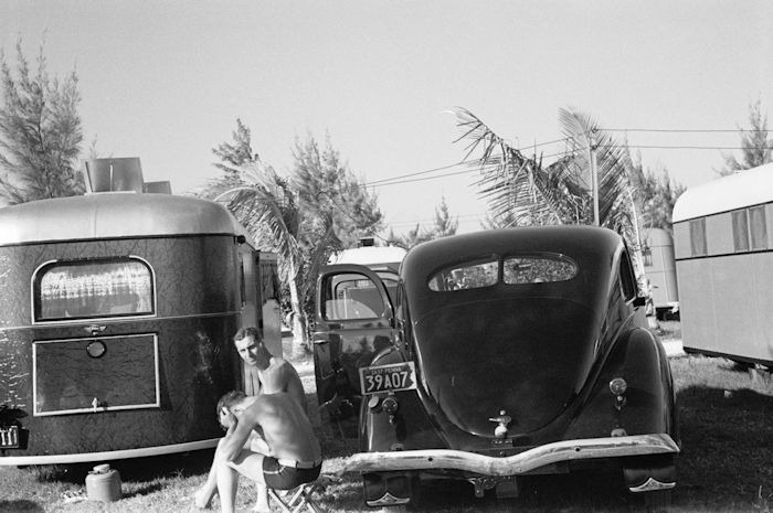 Scene in an auto trailer camp, Dania, Florida 1937