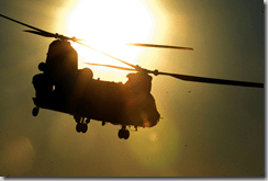 CH-47 during exercise at Ft. Chafee