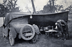 Car camping was popular in the 1920s; Vintage Camping; Rocky Mountain National Park.