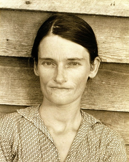A symbol of the Great Depression–Walker Evans' photo of Allie Mae Burroughs.
