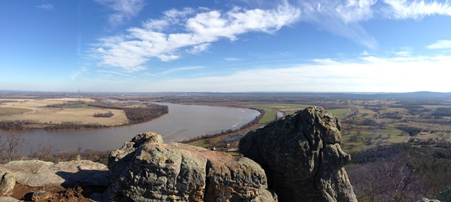 Arkansas River from east end of Petit Jean Mountain