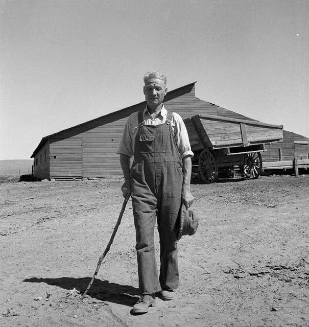 Chris Ament, on dry land wheat farm of Columbia Basin