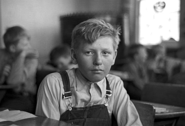 Pupil in rural school. Williams County, North Dakota