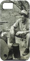 Migrant at campfire - 1939