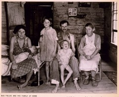 Sharecropper Bud Fields and his family at home 3g04898u