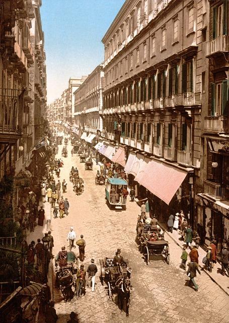 Via Roma, Naples, Italy circa 1890 - 1900
