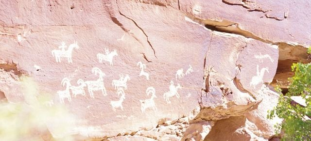 Petroglyphs - Trail to Delicate Arch, Arches National Park, Utah, September 21, 2011