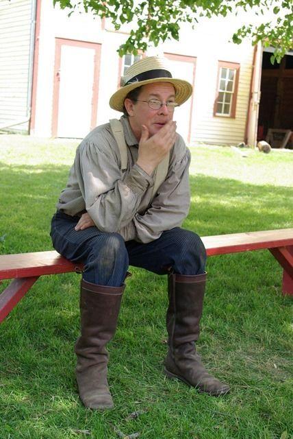 Constumed interpreter at Historic Forestvillle, Minnesota