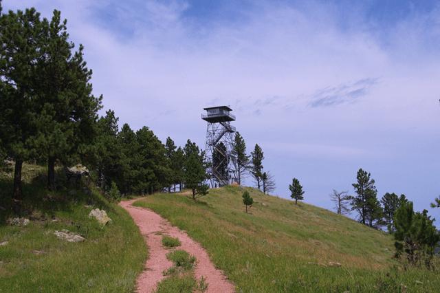 Fire Tower, Rankin Ridge trail, Wind Cave National Park, South Dakota, August 8, 2014