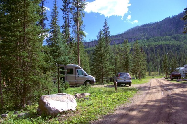 Fox Creek Campground, Absaroka Range, Wyoming, August 13, 2014