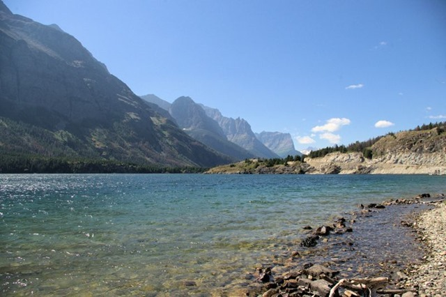St. Mary's Lake, Going to the Sun Road, Glacier National Park, Montana, August 26, 2014