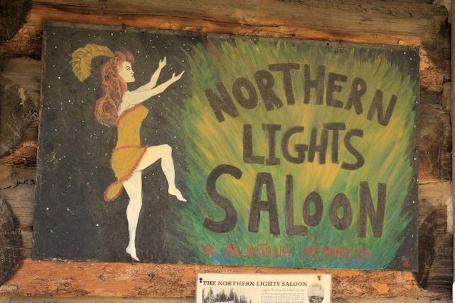 Northern Lights Saloon, Pole Bridge, near Glacier National Park, Montana, August 28, 2014