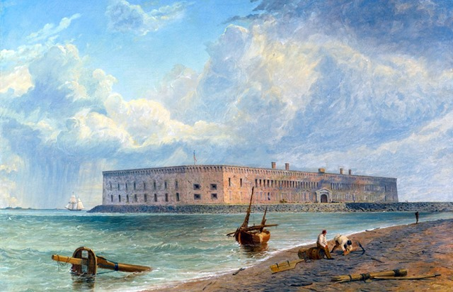 Fort Sumter before the Civil War by Bvt. Brigadier General Seth Eastman. (Collection of the U.S. House of Representatives)