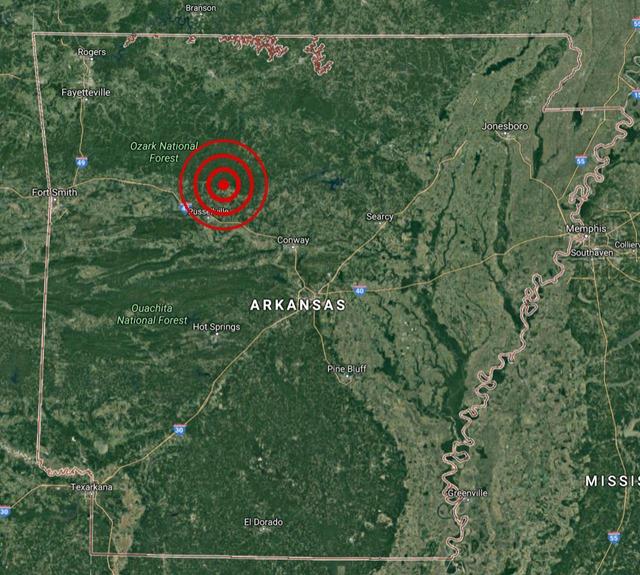 Earthquake, Arkansas, July 27, 2016