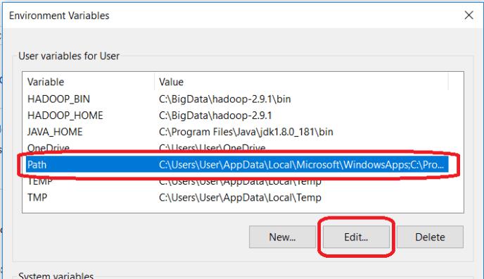 Edit Windows PATH Variable