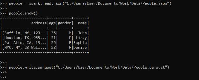 PySpark Read Json File and Write Parquet File