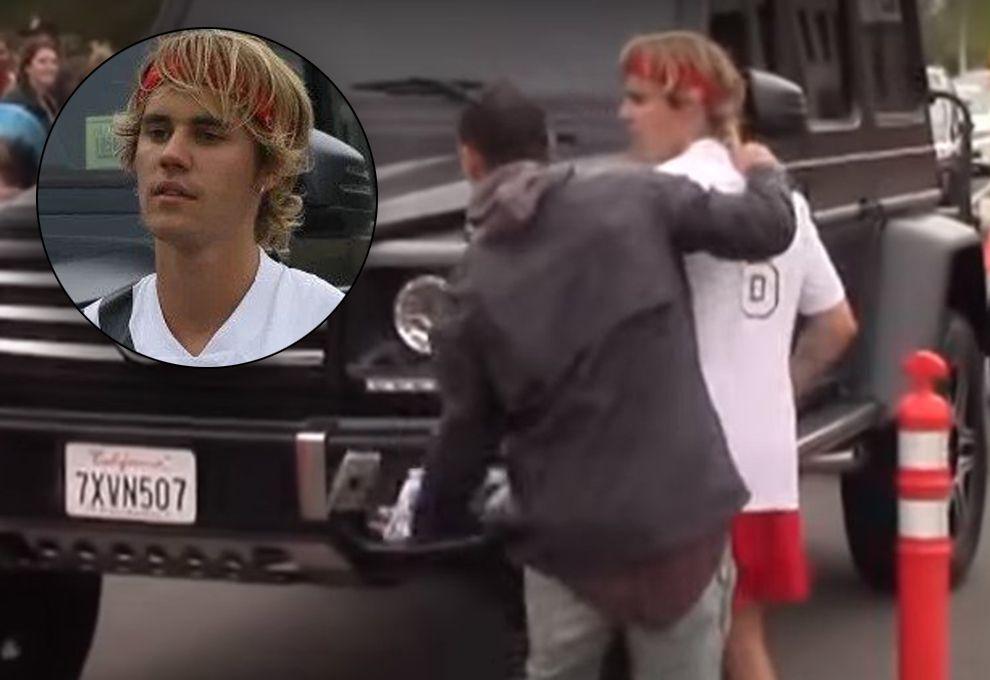 Justin Bieber reacciona con furia contra un fan argentino