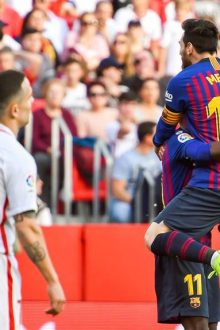 Con hat-trick de Messi, Barcelona venció 4-2 al Sevilla (VIDEO)