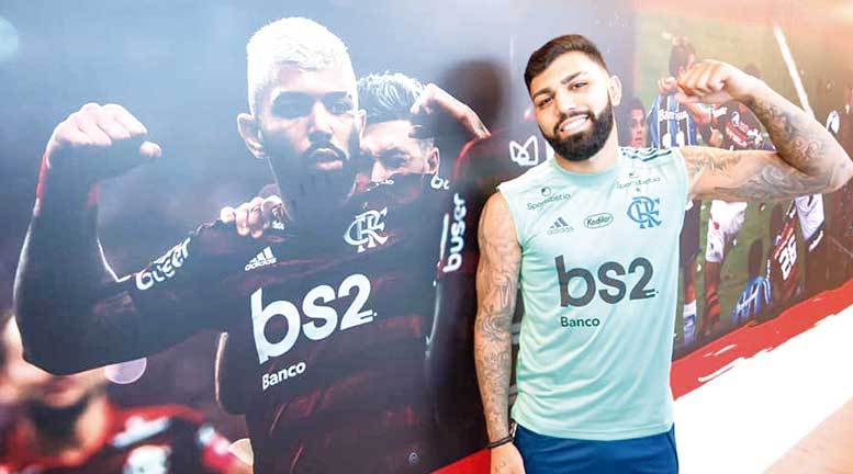 Gabriel Barbosa regresó a Flamengo