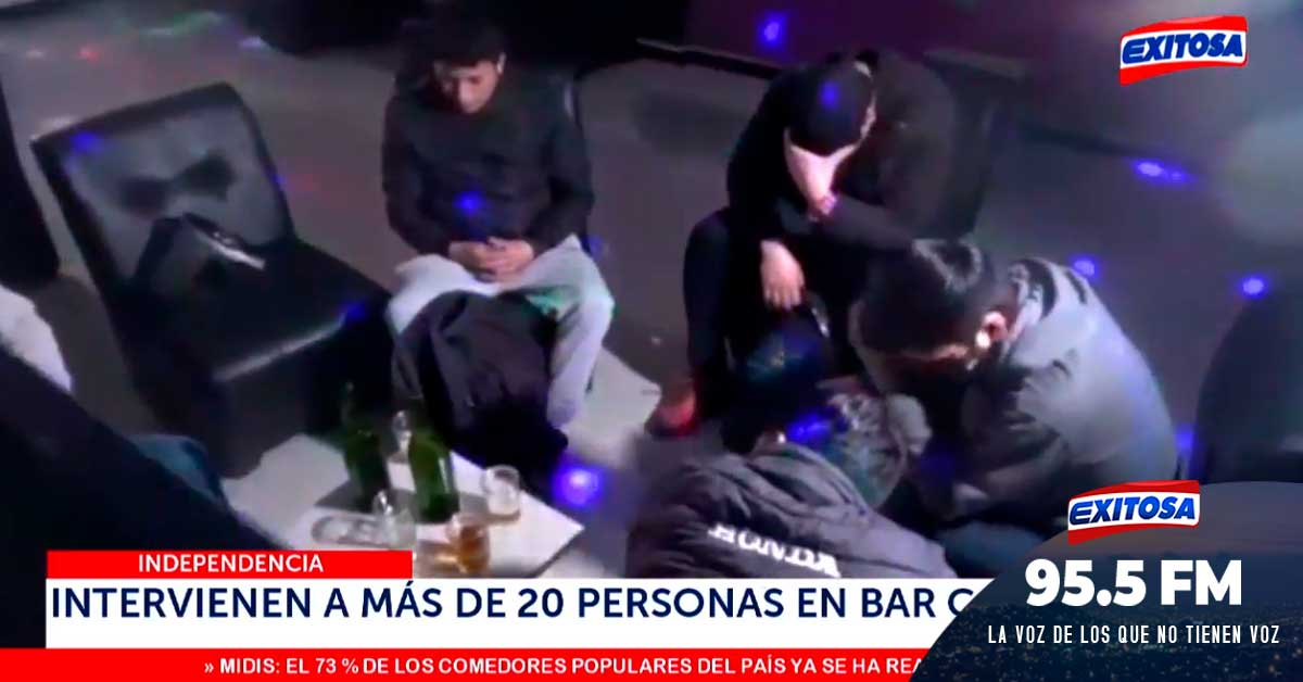 Independecia: Intervienen a más de 20 personas en bar clandestino